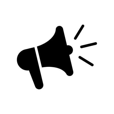 Loudspeaker icon. Megaphone symbol.
