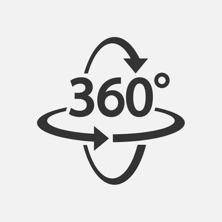 360 Icon. 360 degree view symbol Vector illustration.