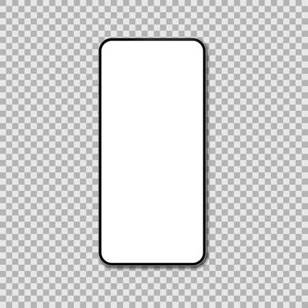 Realistic smartphone mockup. Cellphone display front view mock up. Vector illustration.