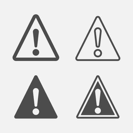 Danger simple icon set. Caution oncept. Vector illustration. Eps 10.
