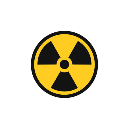 Radiation symbol. Radiation warning icon. Vector illustration. Eps 10.