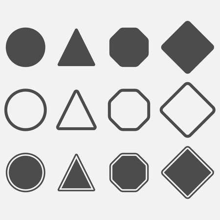 Blank danger simple icon set. Vector illustration. Eps 10.