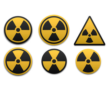 Set of radiation symbol. Radiation warning icon. Vector illustration.
