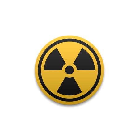Radiation symbol. Radiation warning icon. 版權商用圖片 - 166665813