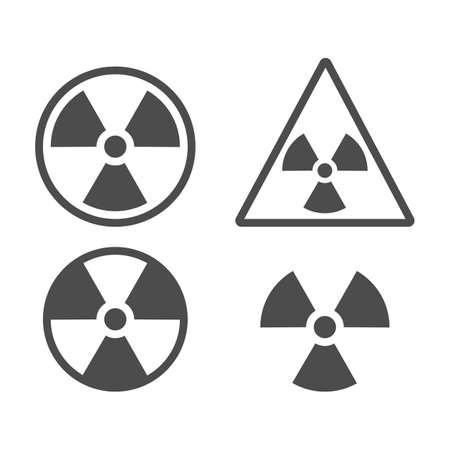 Set of radiation symbol. Radiation warning icon. Vector illustration. Eps 10.