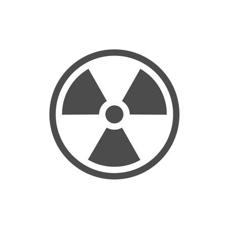 Radiation symbol. Radiation warning icon.