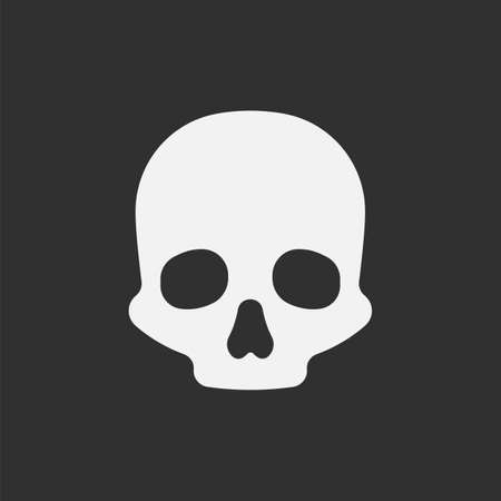 Skull icon isolated on white background. Vector illustration.