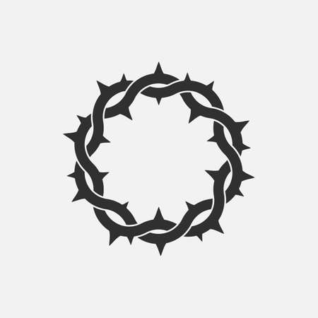 Crown of thorns icon. God friday. Vector illustration.