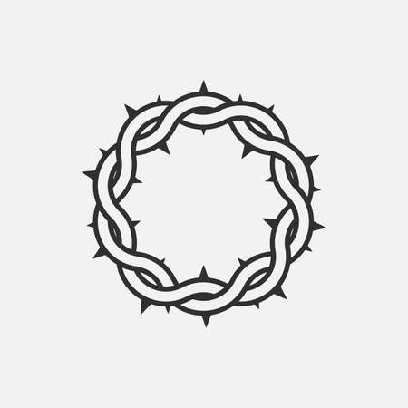Crown of thorns icon. God friday. Vector illustration. . Ilustração