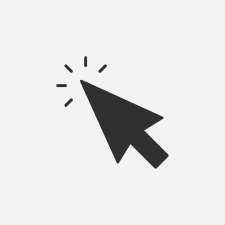 Click icon. Cursor sign. Clicking Arrow, Mouse Cursor Symbol. Vector illustration. Ilustração