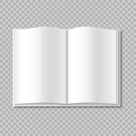 Mockup Blank Open Magazine, Book, Booklet, Brochure, Cover Vector illustration Eps 10