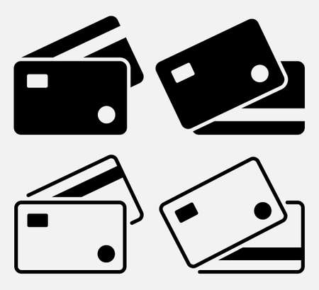 Set of bank card, credit card icon. Payment sign. 向量圖像