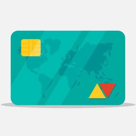 Bank card, credit card icon. Payment sign