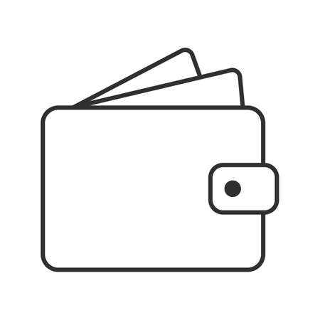 Wallet icon. Wallet Line sign. 向量圖像