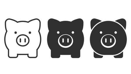 Piggy bank icon isolated on white background. 向量圖像
