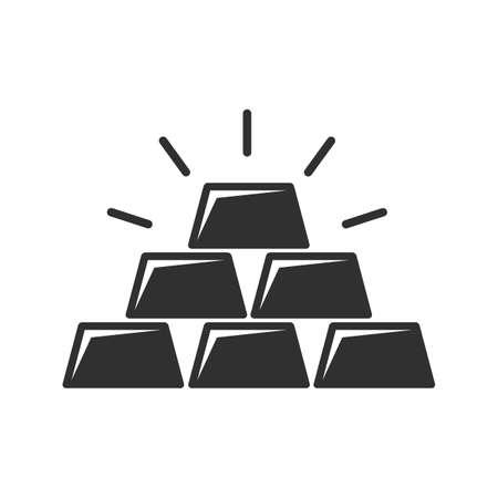 Gold bar icon. Business Trading Finance. Gold bars or ingot. Vector illustration.