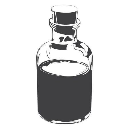 jar bottle glass bottle drawing