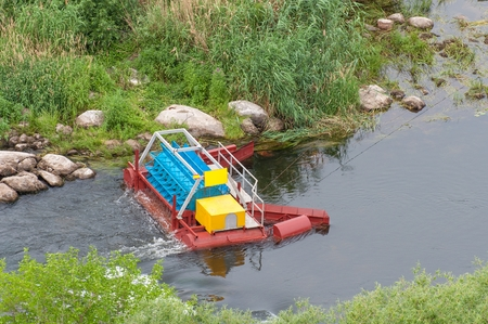 The mini hydroelectric power plant - ecologically clean source of renewable energy. Green energy