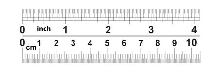 Regla 4 pulgadas. Regla de 10 centímetros. Valor de división: 32 divisiones por pulgada y 0,5 mm. Dispositivo de medición de longitud precisa. Cuadrícula de calibración.