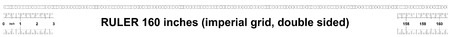 Ruler 160 inches imperial. Ruler double sided. Precise measuring tool. Calibration grid