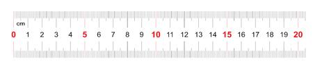 Linijka 200 milimetrów. Władca 20 centymetrów. Siatka kalibracyjna. Podział wartości 1 mm. Precyzyjne urządzenie do pomiaru długości. Przyrząd pomiarowy dwustronny.