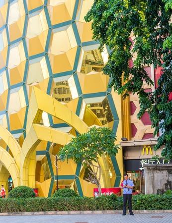 Hainan island, Sanya sity, Dadonghai Bay, China - May 13, 2019: - Popular among tourists shopping center Ananas or Pineapple. Located in the city center of Sanya