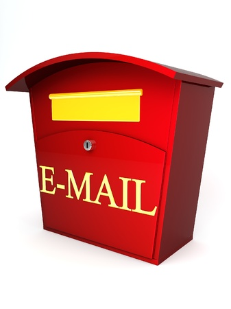 red e-mail box on white background Stock Photo - 8691149
