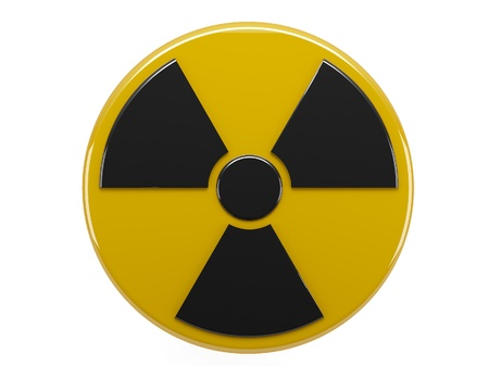 chernobyl: icon of sign radiation on white background Stock Photo