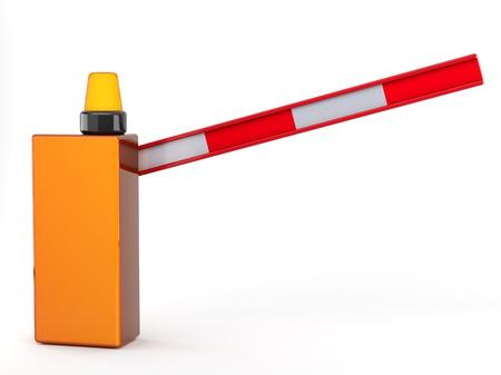 turnpike: barrera 3D sobre fondo blanco
