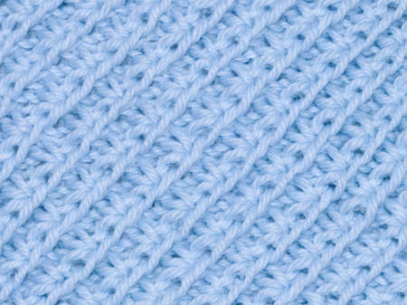 background of blue knitted fabric photo