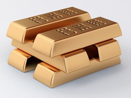 the pile of golden ingots photo