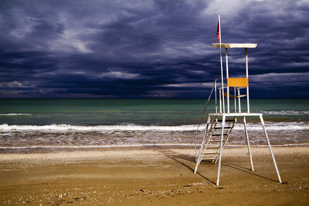 Senigallia, Italy, rescue station for lifeguards