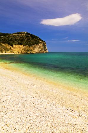 Adriatic sea, Mattinata on the Gargano, Italy Imagens