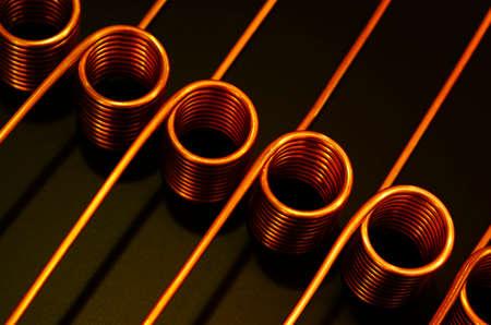 Tubing coils, copper heat transfer and fluid management applications ,serpentine copper tube coils for industries Foto de archivo