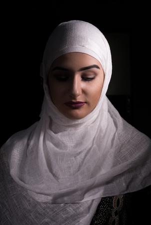 potrait: Potrait of Girl with hijab