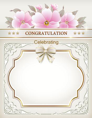 bodas de plata: decoraciones marco Vectores