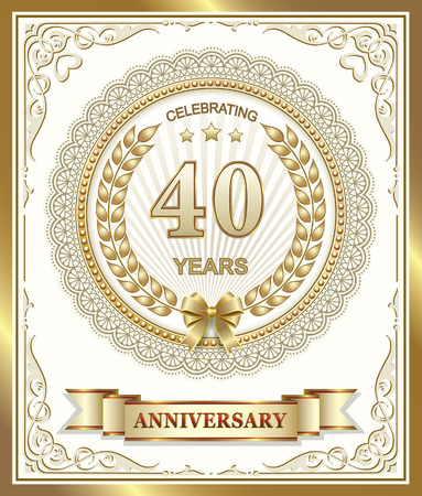 40: Anniversary card 40 years