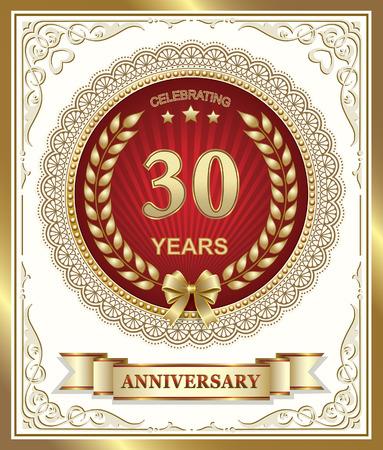 aniversario: Tarjeta de aniversario 30 años