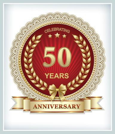 50 years: Anniversary card 50 years