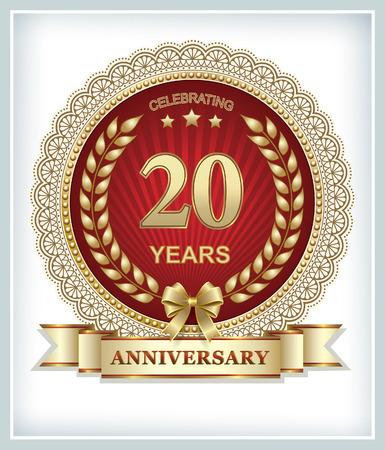 20: Anniversary card 20 years