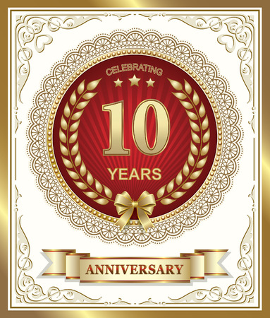 10 years: Anniversary card 10 years Illustration