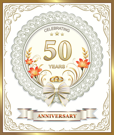 wedding celebration: 50th wedding anniversary