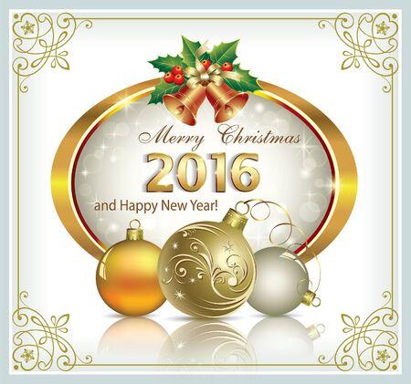 christmas postcard: Happy New Year 2016