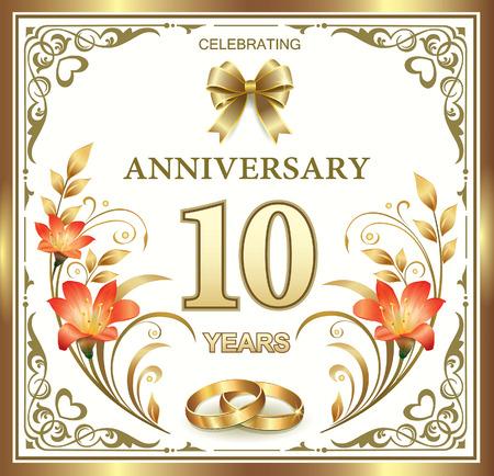 10 年の結婚記念日