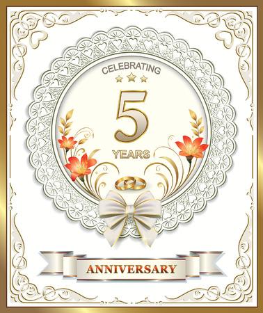 5th: 5th wedding anniversary