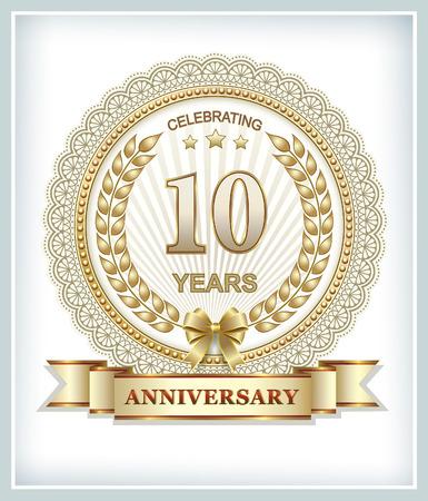 10th: 10th anniversary in gold design