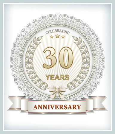 30: 30 anniversary Illustration
