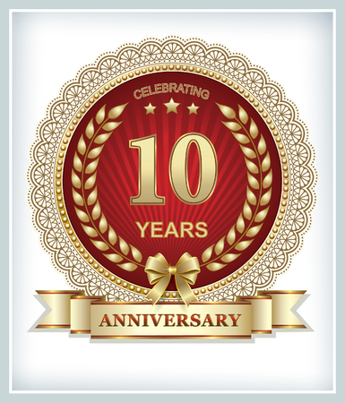 10th anniversary Vectores