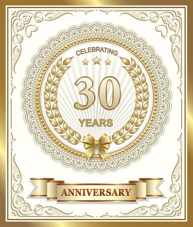 30 years: Happy birthday 30 years