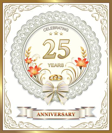 25th: 25th wedding anniversary